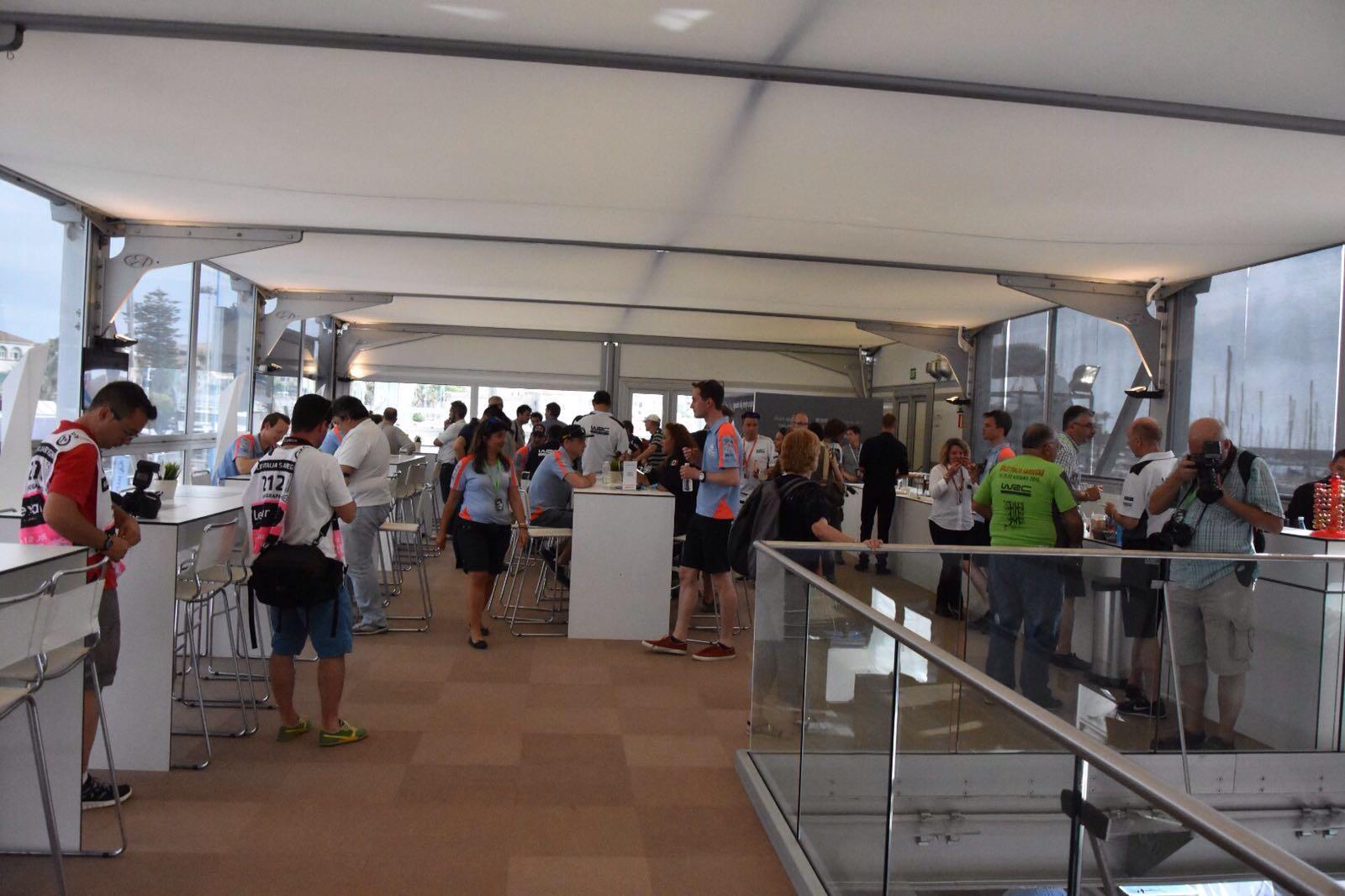 Media Lounge nella struttura Hyundai (Ph. Daniele Talamona)