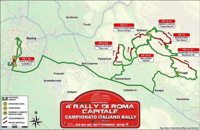 Cartina generale rally Roma 2016