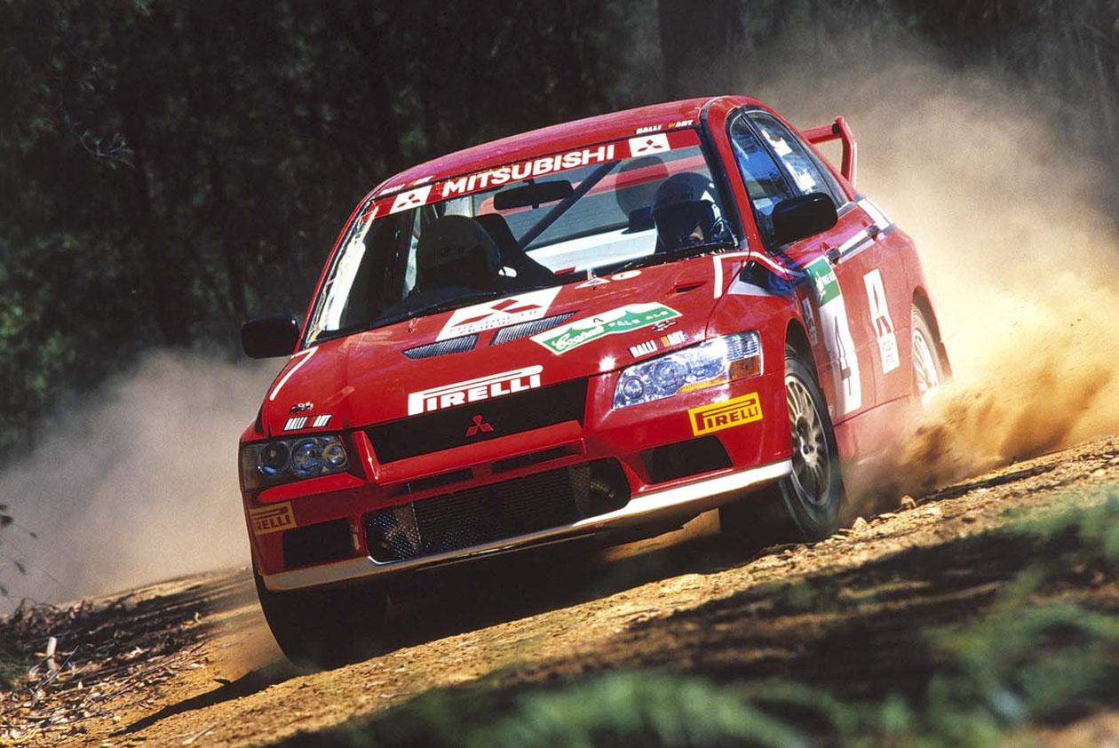 Mitsubishi Lancer Evolution VII Gr.N Mitsubishi Ralliart Australia E. Ordynski / I. Stewart